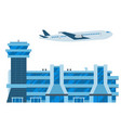 aviation airport airline graphic airplane vector image vector image