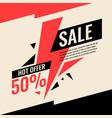 banner best selling in flat design retro vector image