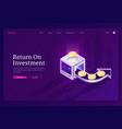 banner return on investment roi vector image