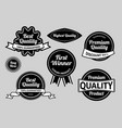 best quality label badges vector image