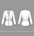 blouse technical fashion with v vector image vector image