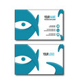 blue eye bussines card vector image vector image