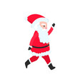 bright and cheerful santa claus in a red suit and vector image vector image