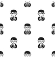 Business man black icon for web and vector image