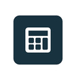calculator icon Rounded squares button vector image vector image