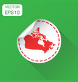 canada sticker map icon business concept canada vector image vector image
