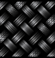 cars tire tracks background vector image vector image