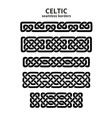 celtic seamless borders vector image