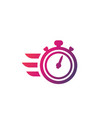chronometer timer icon vector image