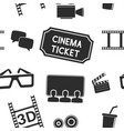Cinema seamless background movie theater symbols
