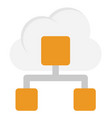 cloud network flat icon vector image vector image