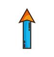 color web arrow up load icon vector image vector image