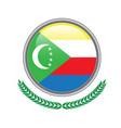 comoros flag button comoros flag icon of comoros vector image