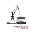 container ship and crane vector image