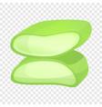 cutted aloe vera icon cartoon style vector image vector image