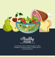 delicious salad healthy food vector image vector image