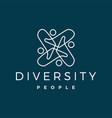 diversity people logo icon vector image