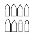 door mosque icon design template isolated vector image vector image