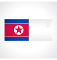 envelope with flag north korea card vector image vector image