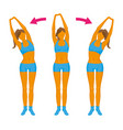 fitness exercise girl doing a slope vector image vector image