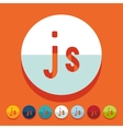 Flat design js vector image vector image