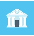 Flat icon of bank building vector image vector image