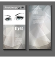 flyer template female eye with fashion makeup vector image vector image
