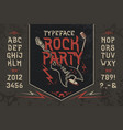 font rock party vector image