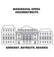 germany bayreuth bavaria margravial opera vector image vector image