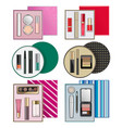 gift boxes with makeup cosmetics vector image vector image