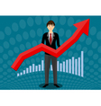 Growth up business vector image vector image