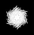 grunge brushstroke snowflake vector image vector image