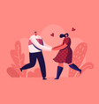 happy loving couple outdoors sparetime cheerful vector image vector image