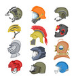 helmet helm equipment protection or safety vector image