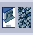 industrial engineering isometric building set of vector image