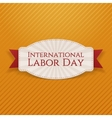 International Labor Day white paper Card vector image vector image