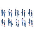 isometric office people male and female 3d vector image vector image