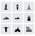 landmarks icon set vector image vector image