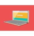 Laptop flat style minimalistic cartoon vector image vector image