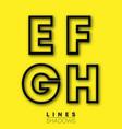 letters linear design set letter e f g h vector image