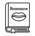 literary romance book icon outline style vector image vector image