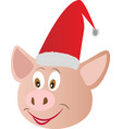 little pink piggy smiles vector image vector image