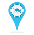 location fishing icon vector image vector image