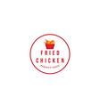 logo fried chicken restaurant vector image