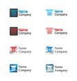 Logo icon set vector image vector image