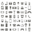 monochrome set with technology icons vector image
