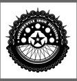 motorcycle wheel and chain - motorcycle vector image