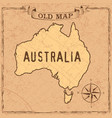 old style australia map vector image