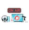 on air sign color vector image