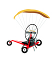 Paraglider or Paramotor on A White Background vector image